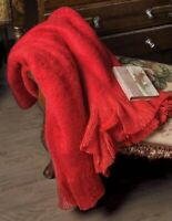 Victorian Trading Co Cardinal Red Mohair Wool Blend Sweater Throw