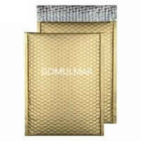 50 pk #0 6.5x10 (extra wide) Matte Metallic  Gold Bubble Mailers waterproof