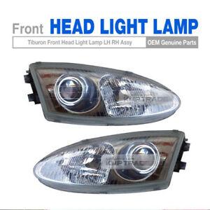 Genuine Parts Front Head Light Lamp LH + RH For HYUNDAI 1996-1998 Tiburon Coupe