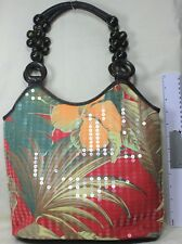 Bueno, Fabric & Sequence & Flower Summer Shoulder Bag