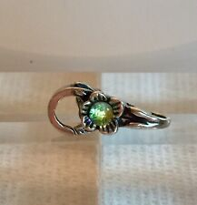 NEW RETIRED Trollbeads Flower Dichroic Lock Sterling Silver #10109 Authentic