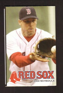 Boston Red Sox--Bill Mueller--2004 Pocket Schedule--Comcast