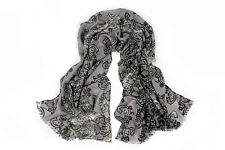 100% Pure Wool Woman's Pashmina Scarf  Soft Wrap Stole  UK Seller
