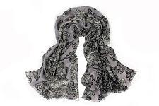 100% Pure Wool Woman's Pashmina Scarf  Soft Wrap Stole  UK Seller
