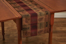 High Country Rustic Wildlife Jacquard Cotton Country Cabin Lodge Table Runner