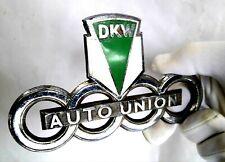 1953 DKW Auto Union badge chrome and enamel. Rare Emblem. Bonnet mascot.