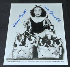 Disney Snow White Voice Adriana Caselotti Original Picture Plus Autograph Puppy