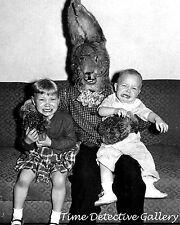 Creepy Freaky Easter Bunny - Vintage Photo Print