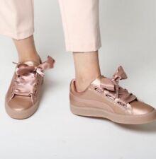 Women's PUMA Basket Heart Copper Rose Metallic Casual Sneakers sz. 8