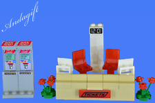 LEGO train station ticket desk bus station airport check in booking