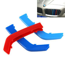 3x Tricolor Front Grille Insert Trims Cover For BMW 3 Series 11 Bars 2013-2017
