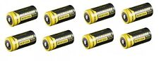 8 X Genuine NITECORE NL166 RCR123A Rechargeable Battery Li-ion Protected 16340