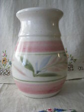 "Studio Stoneware VASE Hand Thrown Contemporary Pottery 6"" floral decoration EUC"