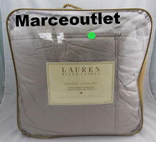 Ralph Lauren Bronze Comfort KING Down Alternative Comforter Flannel Grey