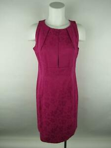 R&K Women sz 10 Pink Cotton Polyester Originals Floral Lined Pleated Shift Dress