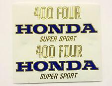 """CB400/4 SUPER SPORT"" Decals/Stickers set (Blue/Gold)"