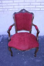 Elegant 19th C. Country French Beechwood Side Accent Chair, New Upholstery