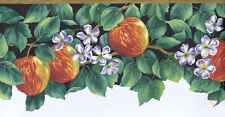 Riping Apples on Tree with Blossoms Bottom Die-Cut  Wallpaper Border   7064726