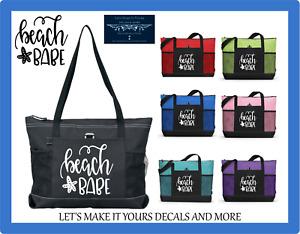 BEACH BABE STAR CUSTOM TOTE PURSE TRAVEL VACATION LUGGAGE SPORTS GYM BAG ZIPS