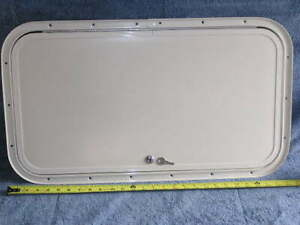 RV Bus Van Cargo Trailer Access Compartment Storage Hatch Bay Door 27.75 x 15.75
