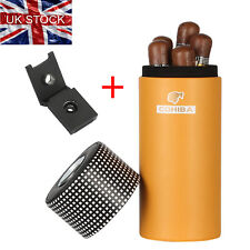 More details for cohiba leather travel cigar tube case humidor box metal cigar punch black box