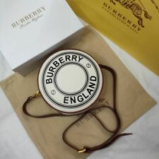 Burberry logo pattern canvas and leather bag