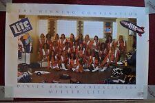 Sexy Girl Beer Poster MILLER LITE ~ 1990 Denver Broncos CHEERLEADERS Football