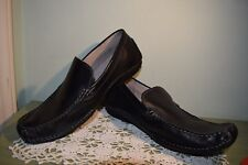 NEW  Men's Size 9.5  Franco Fortini Max Leather Slip On Loafer Black Shoes  $70