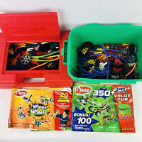Lot of 2 K'Nex Sets Wings 'n Wheels And Value Tub with Instructions
