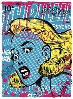 THRILLING MYSTERY LTD edition silkscreen print By Frank Forte Pop Surrealism