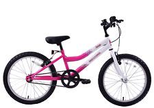 "Professional Sparkle 20"" Wheel Girls Kids Mountain Bike Single Speed White/pink"