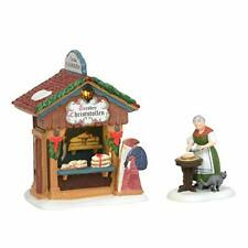 Dept 56 Alpine Christmas Market Holiday Bread Booth Set/2 New 2019 Free Shipping