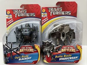 Transformers Fast Action Battlers 2007 Gyro Blade Blackout & Blade Starscream