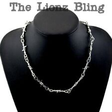 Punk Rock Emo Goth Silver Barbed Wire Chain Necklace or Pant Chain - 21 1/2