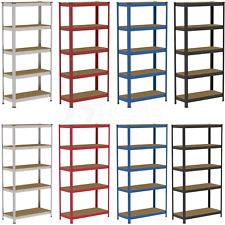 More details for 5 tier shelf shelving unit heavy duty racking boltless industrial shelves garage
