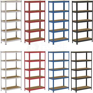 5 Tier Shelf shelving unit heavy duty racking boltless industrial shelves garage
