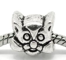 """Cat Face"" Charm for Snake Chain Charm Bracelets"