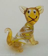 magnifique chat en verre de Venise,décoration,collection,kat,poes,cat  **(JAU)