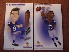 New York GIANTS Football 2 Stickers Stop & Shop Lawrence Tynes Corey Webster 9 2