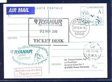 44364) Irland Ryanair FF Madrid-DD/Weeze 31.10.10, feeder mail Luxemburg