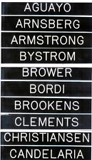 120 Different N.Y.Yankee Players Locker Name Plates You 00004000 R Choice