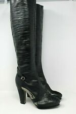 BCBGMAXAZRIA Leather Platform Boots Chrome Detail in Black - 9 US #1