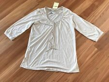 Ladies Beige Viscose / Poly 3/4 Sleeve Top By Millers - Size 12 - NWT