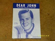 Pat Boone sheet music Dear John 1960 2 pages (VG shape)