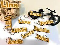 """Schlüsselanhänger """"NAME""""mit Wunschgravur aus Holz - Graviert - Gravur - Geschenk"""