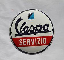 Vespa Servitio - Ø 12 cm Emailschild - Schild - Türschild - TOP - Emaille Schild