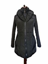 FRANSTYLE Statement Black Unusual Puffer Padded Quilted Coat 40 M 10 12 New