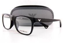 79197576548 Brand New EMPORIO ARMANI Eyeglass Frames 3056 5017 Black for Men Size 54