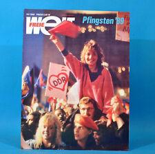 DDR Freie Welt 10/1989 Raumfahrt Pfingsttreffen Berlin Marionette Abrüstung A