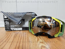 Oakley Splice Shaun White Block Stripes Neon Yellow Black Iridium Goggles Ski =D